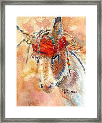 Jack Jr. Burro - Donkey Framed Print by Deb  Harclerode