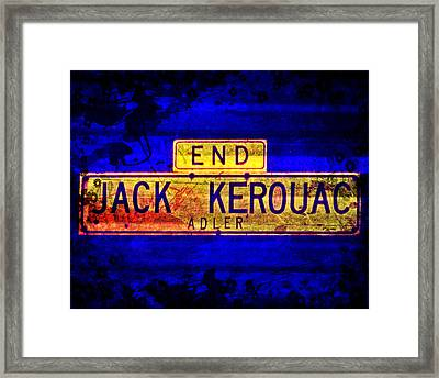 Framed Print featuring the mixed media Jack Kerouac Alley by Michelle Dallocchio