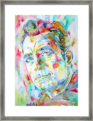 Jack Kerouac Portrait.1 Framed Print by Fabrizio Cassetta