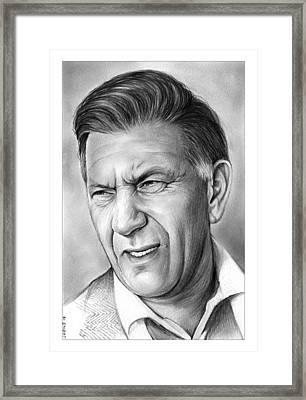 Jack Klugman Framed Print by Greg Joens