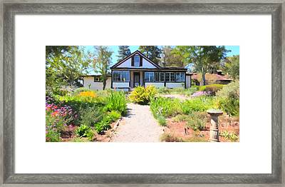 Jack London Countryside Cottage And Garden 5d24565 Long Framed Print by Wingsdomain Art and Photography