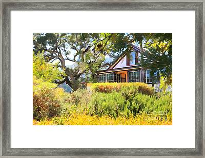 Jack London Countryside Cottage And Garden 5d24570 Framed Print by Wingsdomain Art and Photography