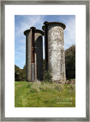 Jack London Ranch Silos 5d22160 Framed Print by Wingsdomain Art and Photography