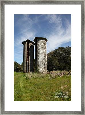 Jack London Ranch Silos 5d22161 Framed Print by Wingsdomain Art and Photography