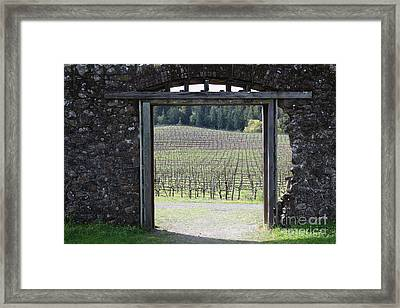 Jack London Ranch Winery Ruins 5d22132 Framed Print by Wingsdomain Art and Photography