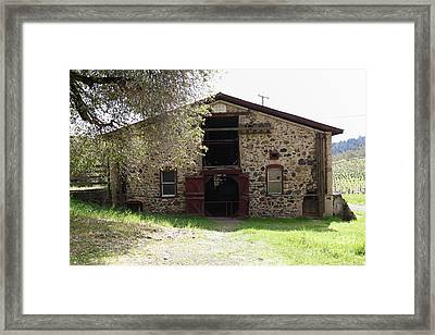 Jack London Sherry Barn 5d22070 Framed Print by Wingsdomain Art and Photography
