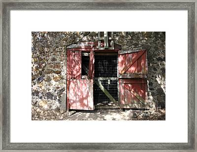 Jack London Sherry Barn 5d22084 Framed Print by Wingsdomain Art and Photography