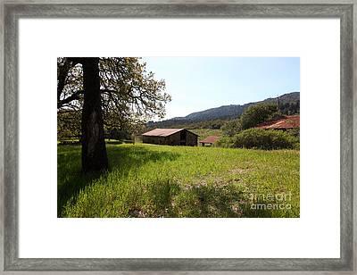 Jack London Stallion Barn 5d22056 Framed Print by Wingsdomain Art and Photography