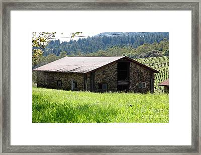 Jack London Stallion Barn 5d22057 Framed Print by Wingsdomain Art and Photography