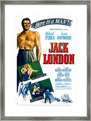 Jack London, Us Poster, From Top Framed Print