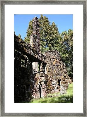 Jack London Wolf House 5d22019 Framed Print by Wingsdomain Art and Photography