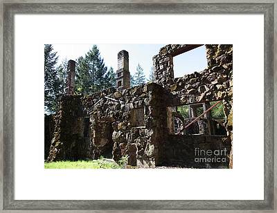 Jack London Wolf House 5d22038 Framed Print by Wingsdomain Art and Photography