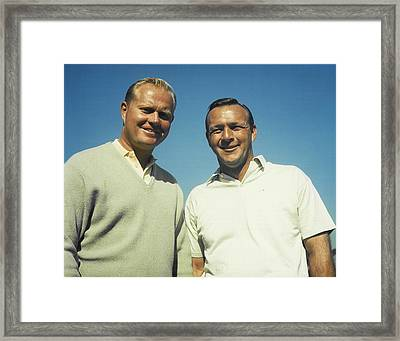 Jack Nicklaus And Arnold Palmer Framed Print by Retro Images Archive