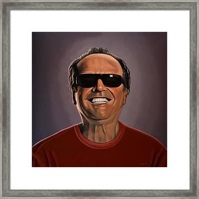 Jack Nicholson 2 Framed Print by Paul Meijering