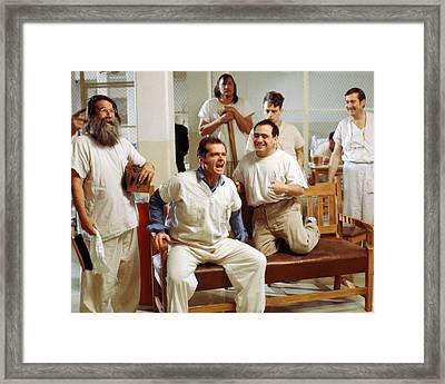 Jack Nicholson In One Flew Over The Cuckoo's Nest  Framed Print by Silver Screen