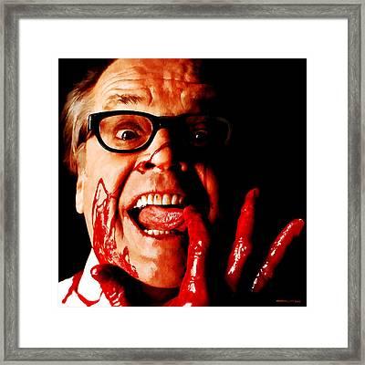 Jack Nicholson Painted From Photo Of Matthew Rolston Framed Print