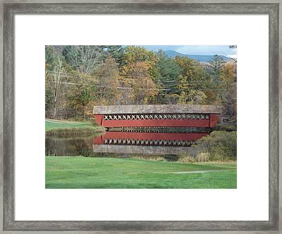 Jack O Lantern Bridge Framed Print by Catherine Gagne