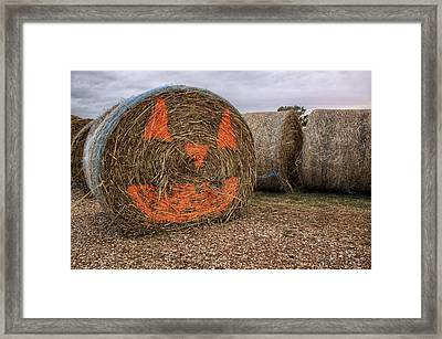 Jack-o-lantern Hayroll Framed Print