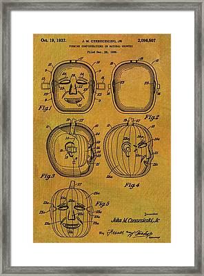 Jack O Lantern Patent Framed Print