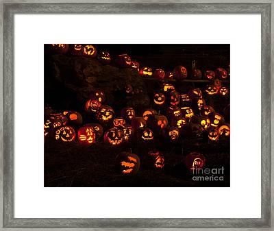 Jack-o-lanterns Framed Print by Inge Riis McDonald