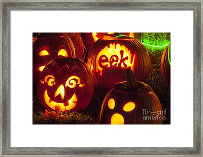 Jack O Lanterns Framed Print by Juli Scalzi