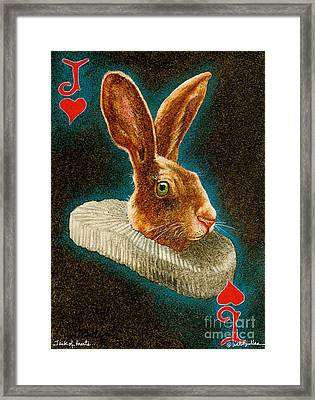 Jack Of Hearts... Framed Print by Will Bullas