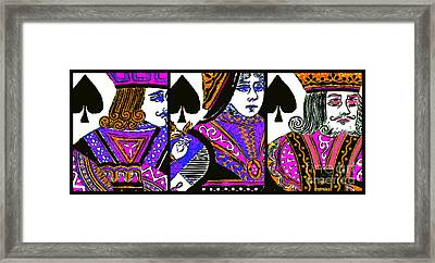 Jack Queen King Of Spade 20140812 Framed Print by Wingsdomain Art and Photography