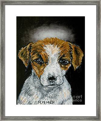 Jack Russell Terrier Angel Framed Print by Jay  Schmetz