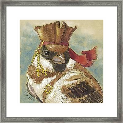 Captain Jack Sparrow Framed Print by Tracie Thompson