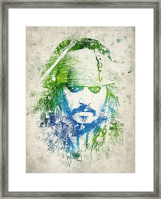 Jack Sparrow Framed Print by Aged Pixel