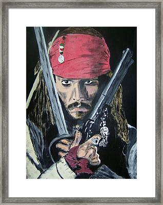 Jack Sparrow Johnny Depp Framed Print