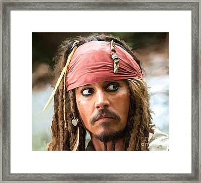 Jack Sparrow Framed Print by Paul Tagliamonte