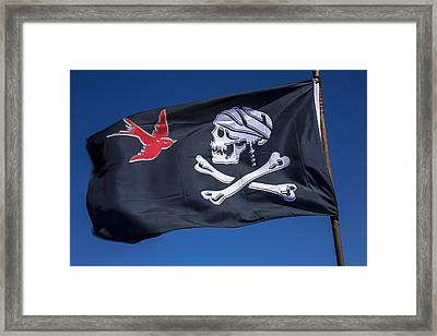 Jack Sparrow Pirate Skull Flag Framed Print by Garry Gay