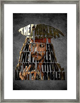 Jack Sparrow Quote Portrait Typography Artwork Framed Print