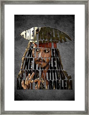Jack Sparrow Quote Portrait Typography Artwork Framed Print by Georgeta Blanaru
