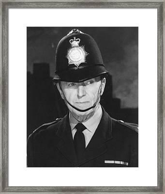 Jack Warner In Dixon Of Dock Green  Framed Print
