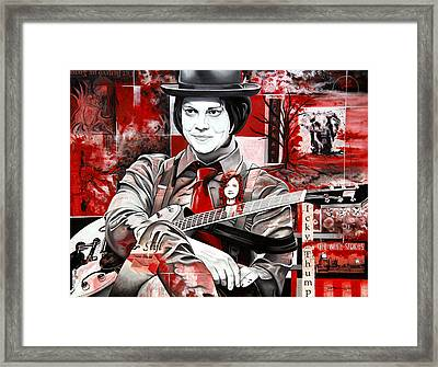 Jack White Framed Print by Joshua Morton