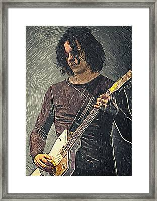 Jack White Framed Print by Taylan Apukovska
