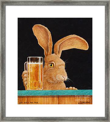 Jack With A Beer Back... Framed Print