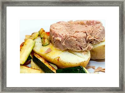 Jacket Potato With Tuna Filling Framed Print