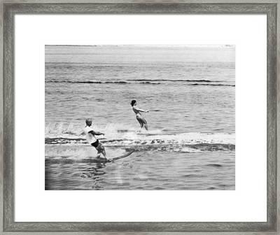 Jackie & John Glenn Water Ski Framed Print