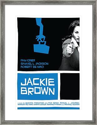 Jackie Brown Poster Framed Print by Geraldinez