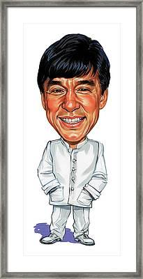 Jackie Chan Framed Print by Art