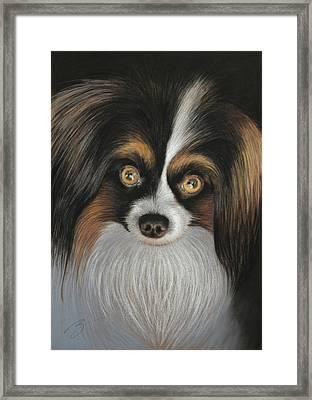 Jackie - Pastel Framed Print