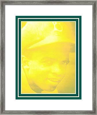 jackie Robinson 2 Framed Print by Tracie Howard