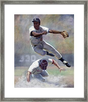Jackie Robinson Framed Print by Gregory Perillo