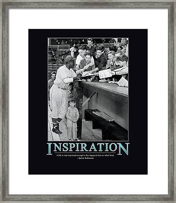 Jackie Robinson Inspiration Framed Print by Retro Images Archive