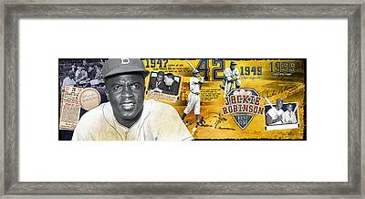 Jackie Robinson Panoramic Framed Print by Retro Images Archive