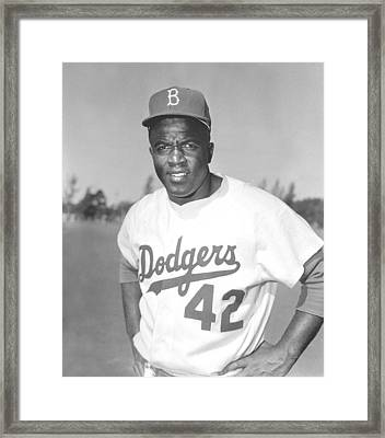 Jackie Robinson Poster Framed Print by Gianfranco Weiss
