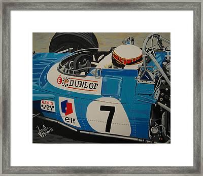 Jackie Stewart Framed Print by Jose Mendez